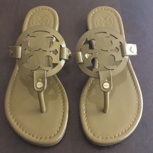 Tory Burch Miller Patent Leather Sandals Size 7